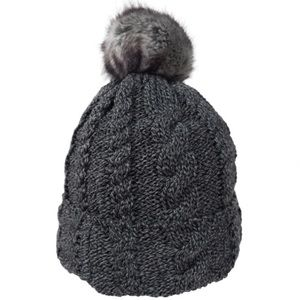 Accessories - Fur Pom Beanie with plush lining